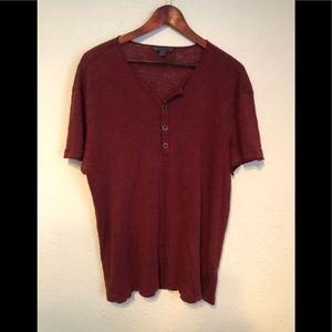 John Varvatos Henley Style Shirt